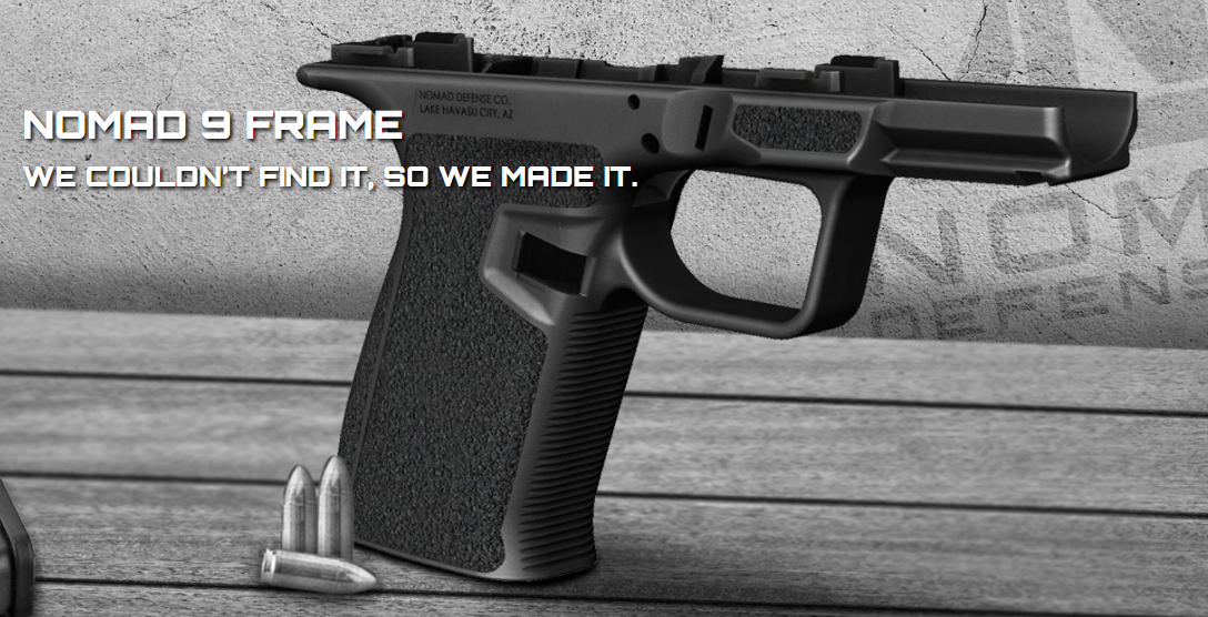 NEW! NOMAD DEFENSE: NOMAD 9 GLOCK COMPATIBLE LOWER FRAME ...