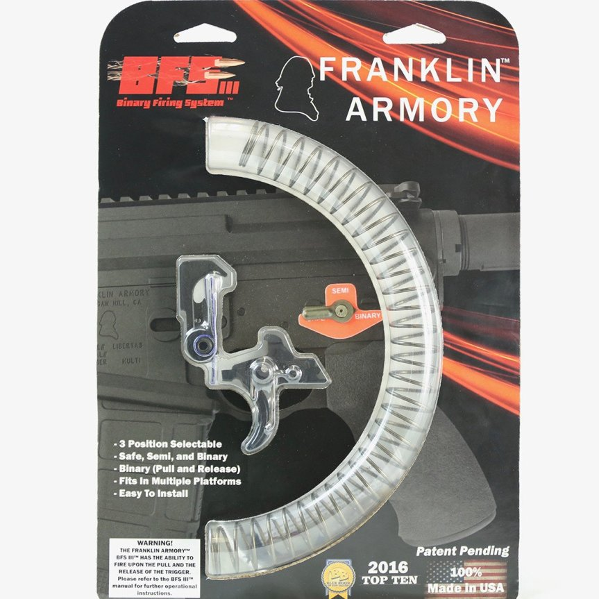 franklin armory awarded multiple patents binary trigger