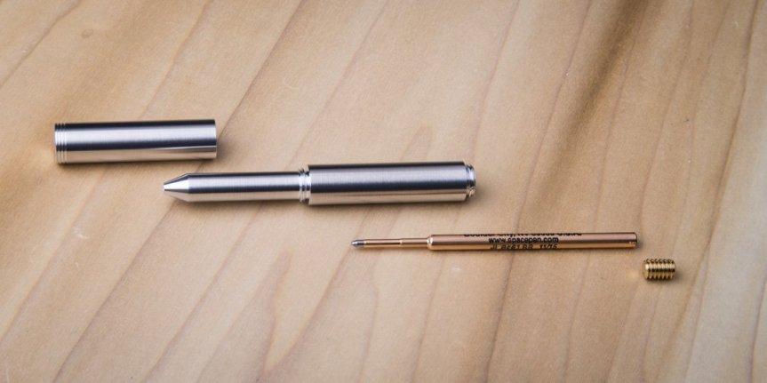 Schon DSGN Clip EDC Pen, Polished Aluminum 5
