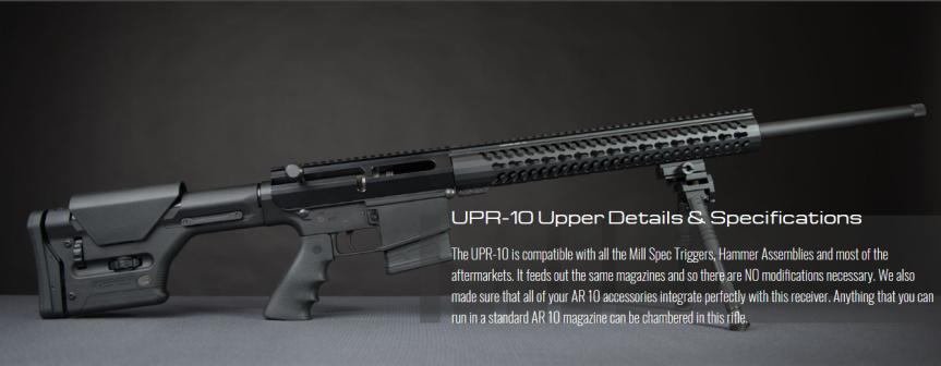 uintah precision upr-10 bolt action ar10 upper receiver assembly 5