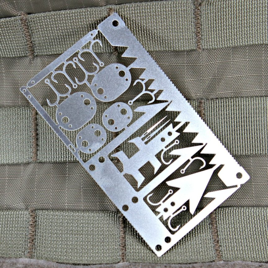 violent little machine shop wilderness survival card for preppers and edc 1