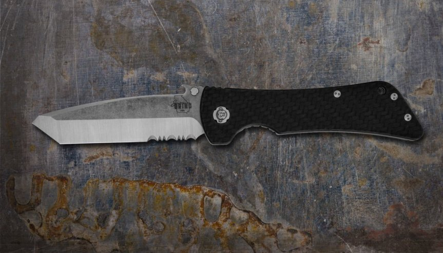 ZAC BROWN'S SOUTHERN GRIND BAD MONKEY EMERSON TANTO SATIN SERRATED With CARBON FIBER HANDLE