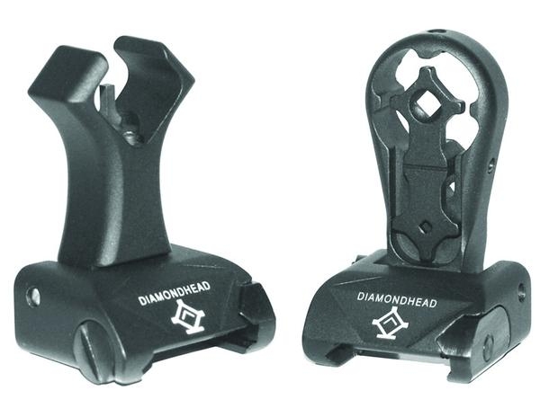 diamdonhead sights hole shot intergrated sighting system diamondhead buis back up iron sights. 1