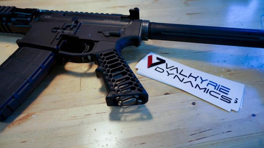 valkyrie dynamics cobra skeleton ar15 grip billet aluminum ar15 grip 4