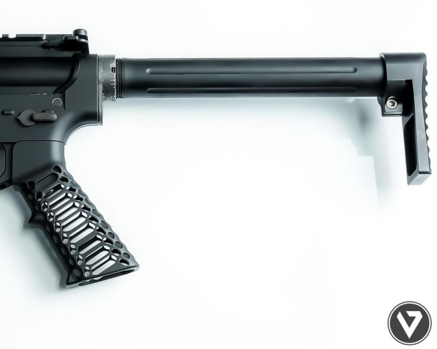 valkyrie dynamics cobra skeleton ar15 grip billet aluminum ar15 grip 5
