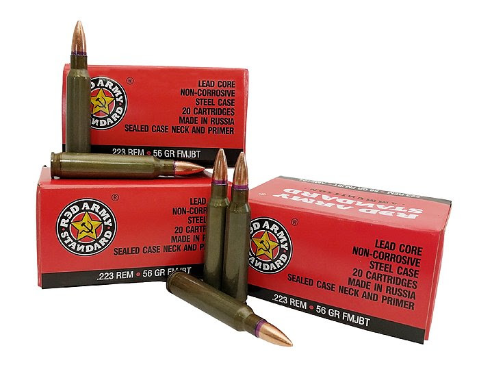 century arms Red Army Standard 223 Remington Ammo 56 Grain FMJ Steel Case TSAM2424 AM2424 78745043178 4