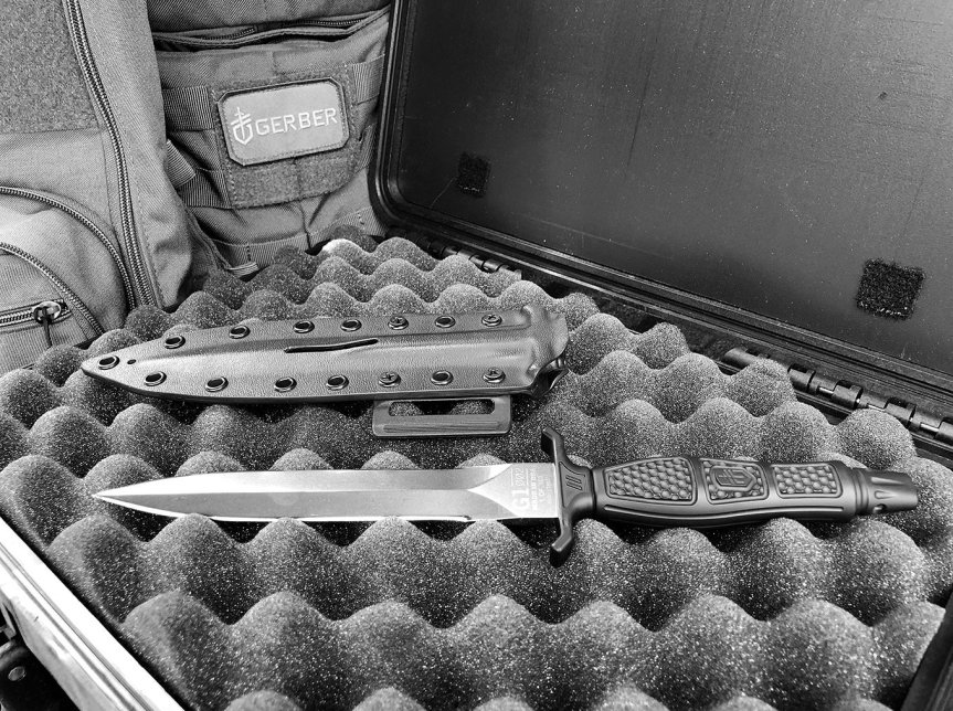 GERBER GEAR & ZEV TECHNOLOGIES COLAB LIMITED EDITION FIXED BLADE KNIFE 30-001602 g1-002 1