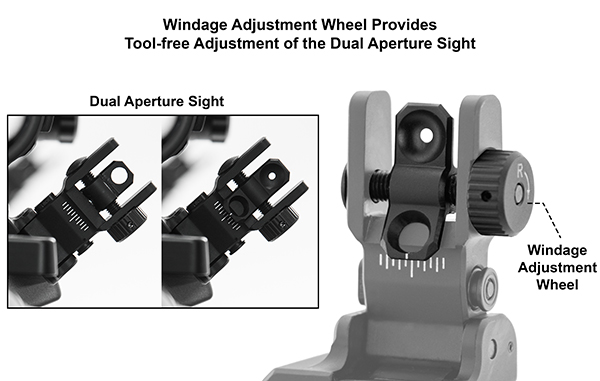 leapers utg ACCU-SYNC™ 45° ANGLE FLIP UP IRON SIGHTS MT-745 MT-945 5