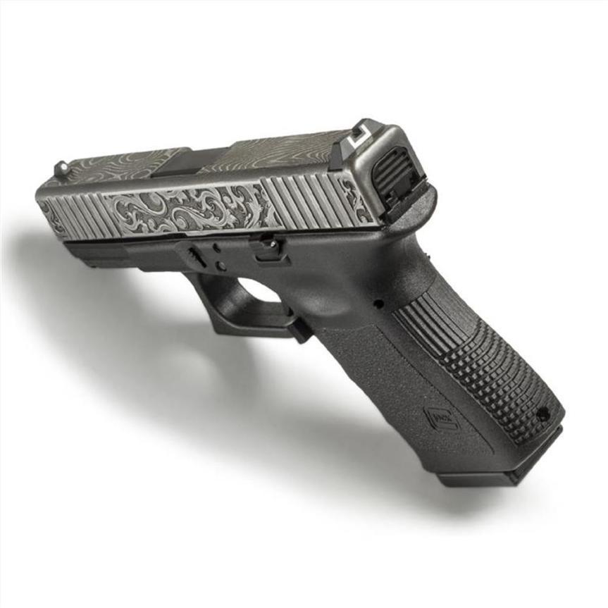 lone wolf distributors damascus slide LWD-G19-Damascus-Eng demascus glock 19 slide custom glock slide scrollwork 3