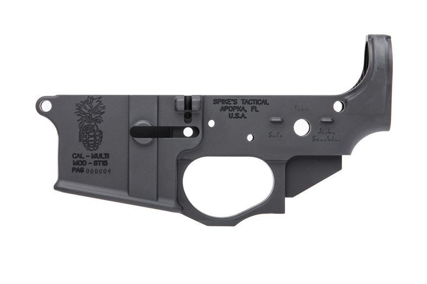 spikes tactical ar15 stripped lower receiver stls032 pineapple grenade lower reciever 2