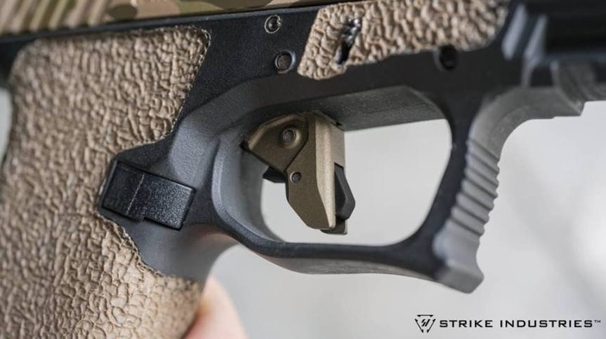 strike industries glock trigger in gold