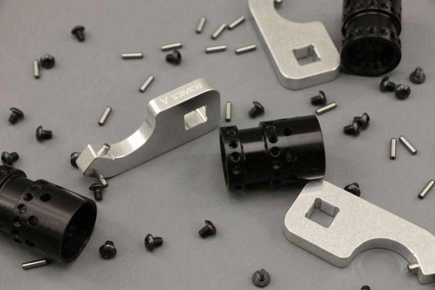 v-seven weapon systems mangesium handguards. HYPLIGHT 7KM 7inch handguard lightest handguard 3