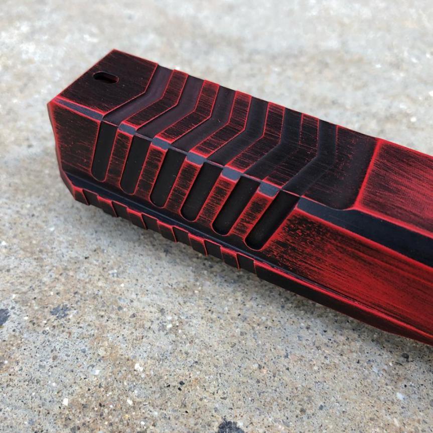 dv8 dynamics dv8 razor billet glock slide custom glock slide. custom cerakote glock slide rmr cut 2