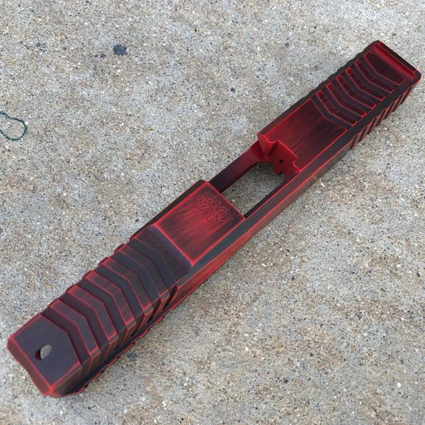 dv8 dynamics dv8 razor billet glock slide custom glock slide. custom cerakote glock slide rmr cut 4