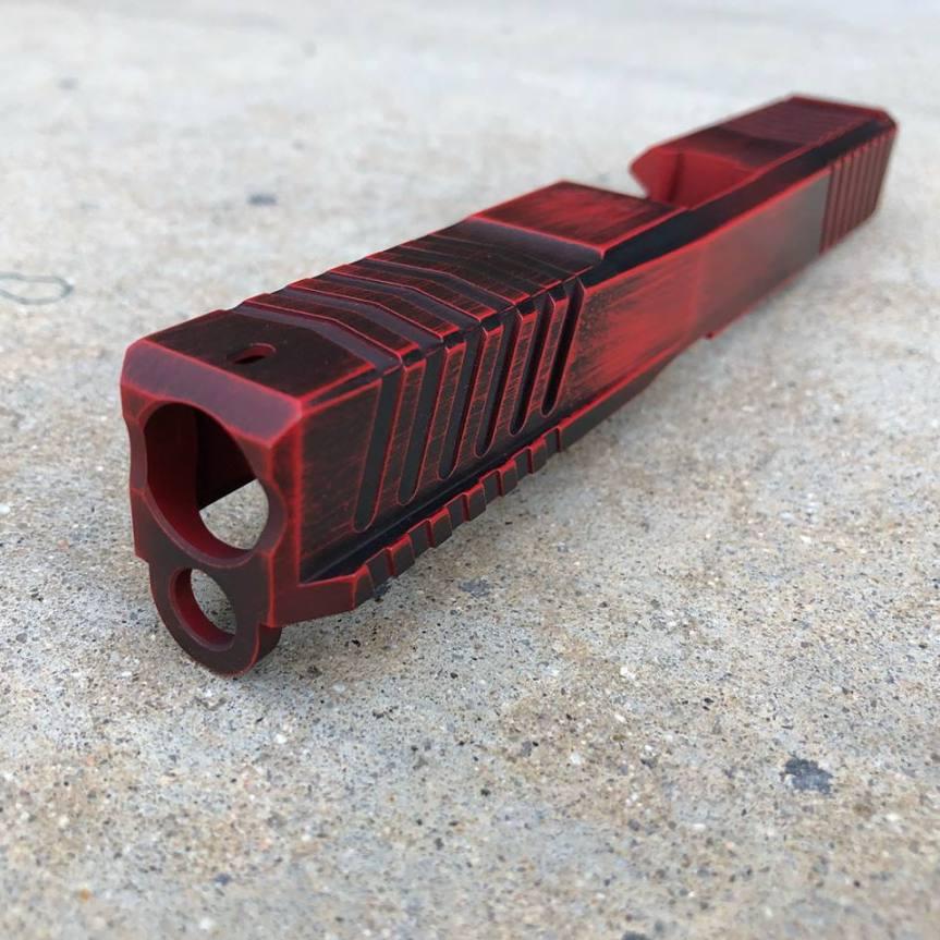 dv8 dynamics dv8 razor billet glock slide custom glock slide. custom cerakote glock slide rmr cut 5