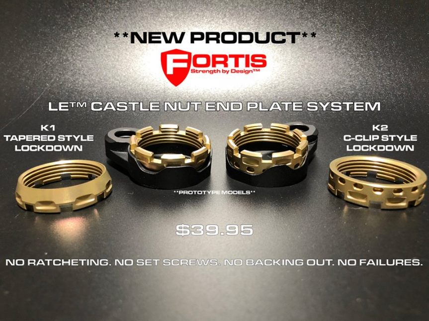 fortis manufacturing LE castle nut end plate system 1