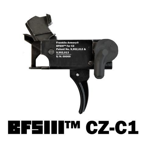 franklin armory BFSIII CZ-c1 cz scorpion binary trigger. scorpion custom trigger 1