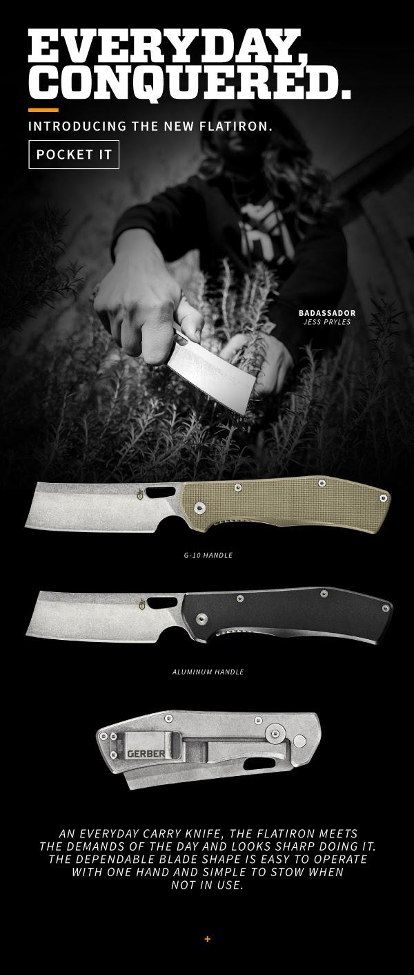 Gerber gear flatiron cleaver pocket folder cleaver knife tactical cleaver 30-001495 4