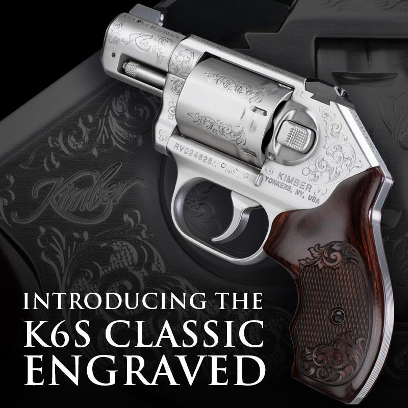 kimber k6s classic engraved k6s grips custom revolver 2