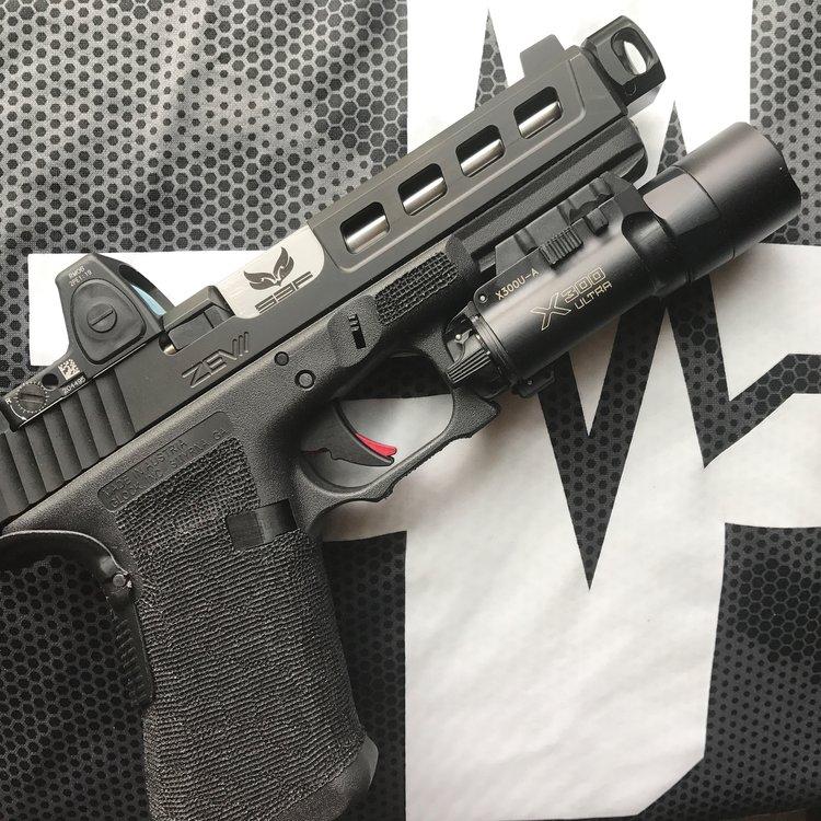 mayhem sydicate carry compensator system glock compensator for carrying a pistol small glock comp glock 19 custom glock 17 glock 26 gen 5 glock 5