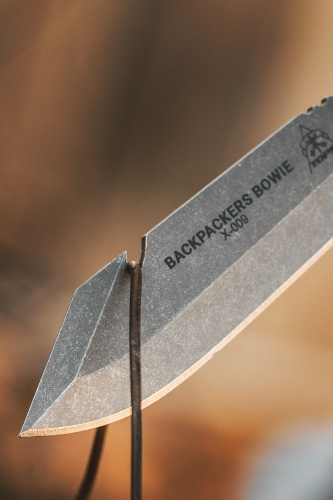 tops knives backpacker bowie knife hiking knife backpack knife light weight edc knife. bpb-01 6