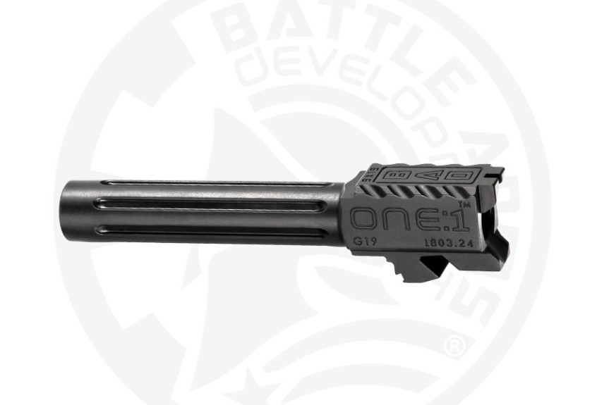 battle arms development one 1 glock barrel. custom glock barrel threaded glock barrel BAD-BBLG19SSFT 9