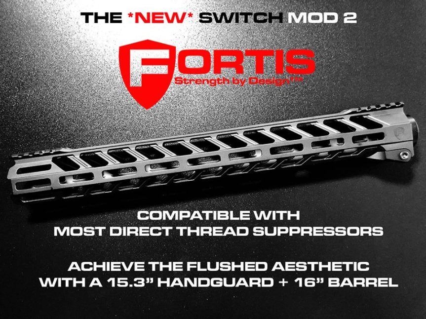fortis manufacturing switch mod 2 rail ar15 fortis rail tuck under ar15 FTS-SWITCH-556-15-ML-BLK 1