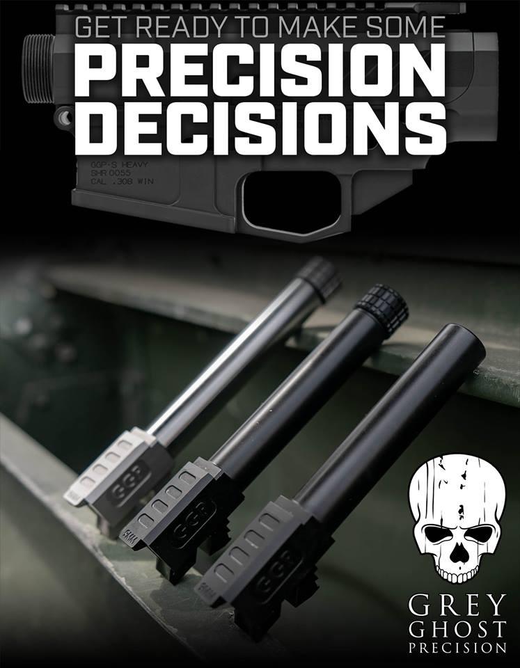 grey ghost precision glock barrels match grade glock barrel glock 40 custom glocks BARREL-G17 NT BN 2