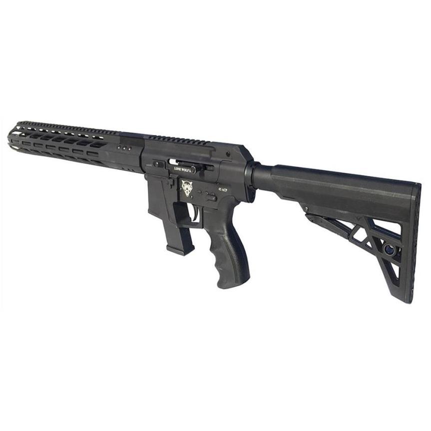 lone wolf distributors alphawolf pistol caliber carbine pcc 45 ar15 ar45 pistol ar15 45 acp AW-PCC 7
