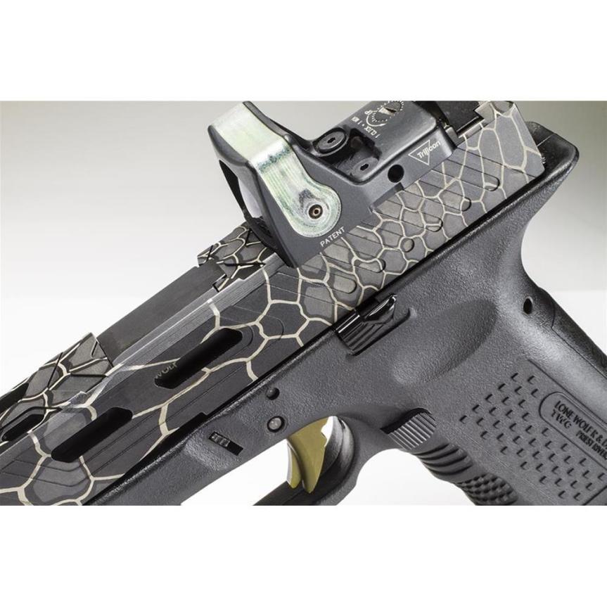 lone wolf distributors lwd camouflage kryptek LWD-ENG-KRYPTEK laser engraved glock slides laser kryptek glock 5