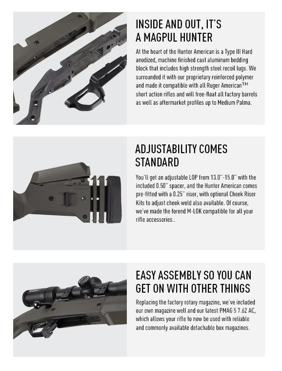 magpul hunter american stock ruger american sniper rifle magpul upgrade markesmen rifle tactical sniper 9