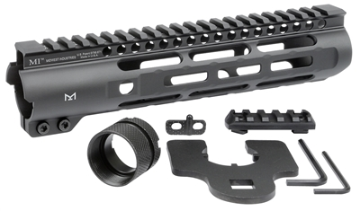 midwest industries slh handguard slim handguard ar15 slim rail MLOK MI-SLH9 black rifle 1