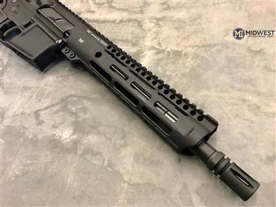 midwest industries slh handguard slim handguard ar15 slim rail MLOK MI-SLH9 black rifle 2