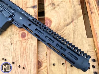 midwest industries slh handguard slim handguard ar15 slim rail MLOK MI-SLH9 black rifle 3