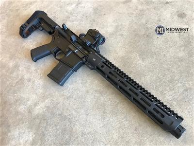 midwest industries slh handguard slim handguard ar15 slim rail MLOK MI-SLH9 black rifle 4