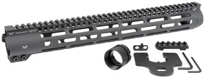 midwest industries slh handguard slim handguard ar15 slim rail MLOK MI-SLH9 black rifle 7