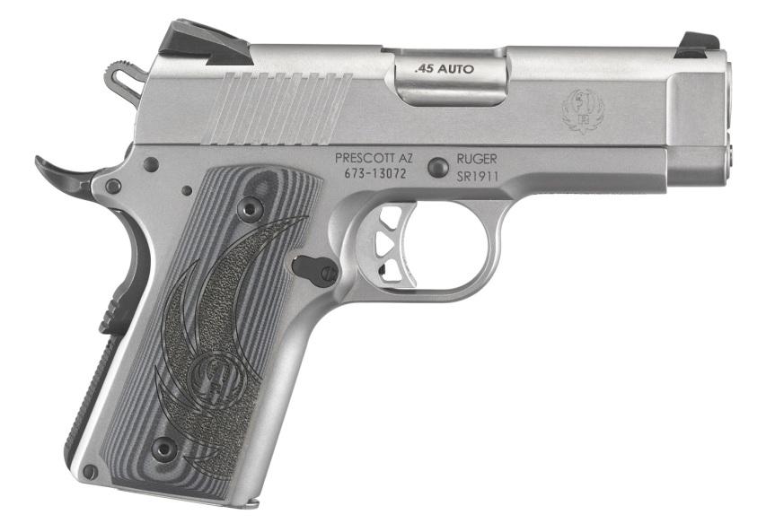 ruger sr1911 officer style pistol sr1911 45acp 6762 stainless 1911 frame 2