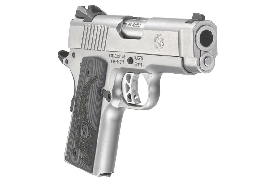 ruger sr1911 officer style pistol sr1911 45acp 6762 stainless 1911 frame 3