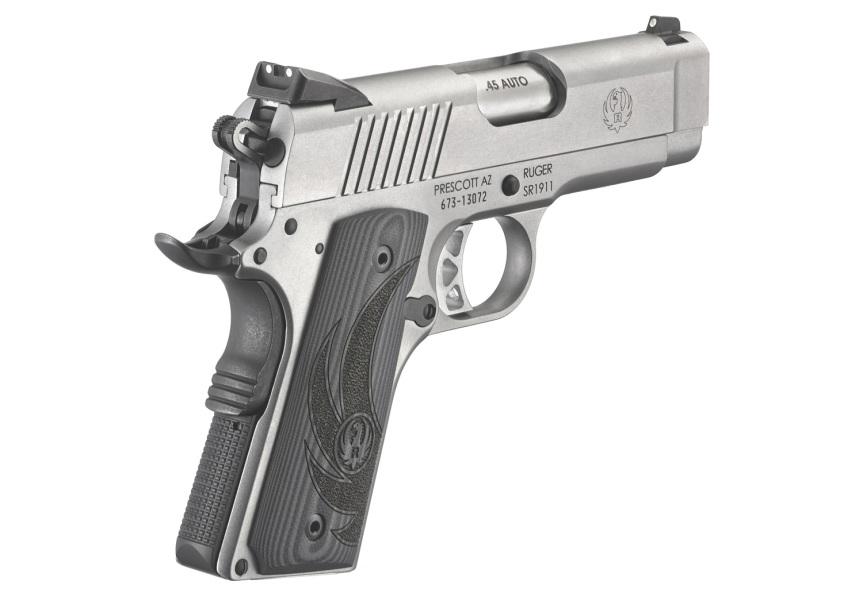 ruger sr1911 officer style pistol sr1911 45acp 6762 stainless 1911 frame 4