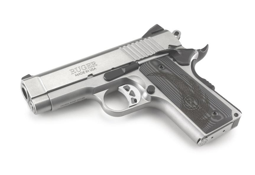 ruger sr1911 officer style pistol sr1911 45acp 6762 stainless 1911 frame 5