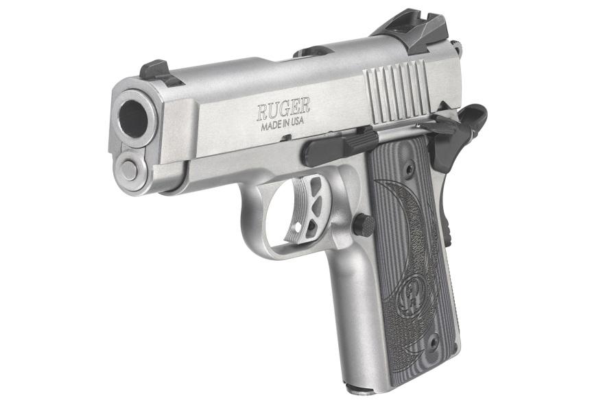 ruger sr1911 officer style pistol sr1911 45acp 6762 stainless 1911 frame 6