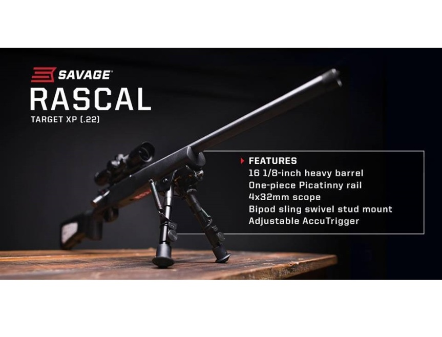 savage arms 22lr youth rifle rascal target xp 22lr micro rifle 13836 a