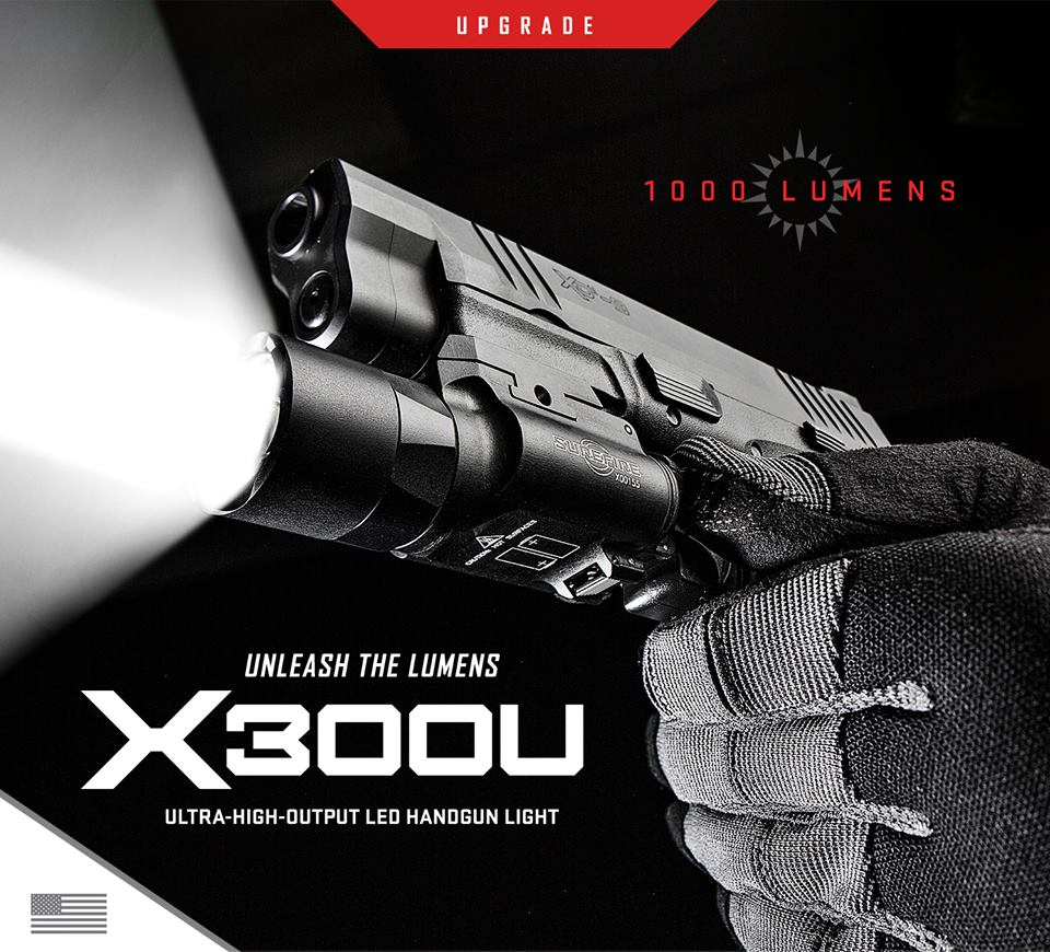 SUREFIRE ANNOUNCES NEW 1,000 LUMEN X300U WEAPON LIGHT