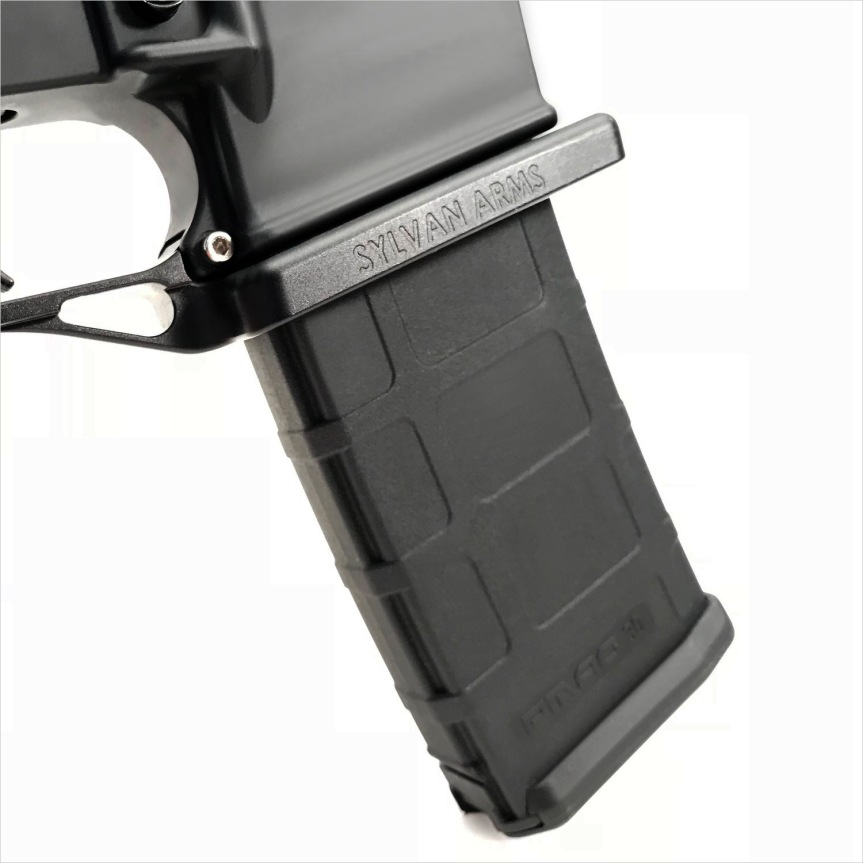 sylvan arms flared magwell ar15 flaired magwell ar-15 flaired magazine ar15 billet trigger guard black rifle ar-15 2