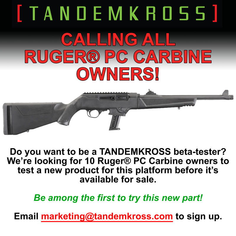 tandemkross beta testers needed for ruger pc carbines.png