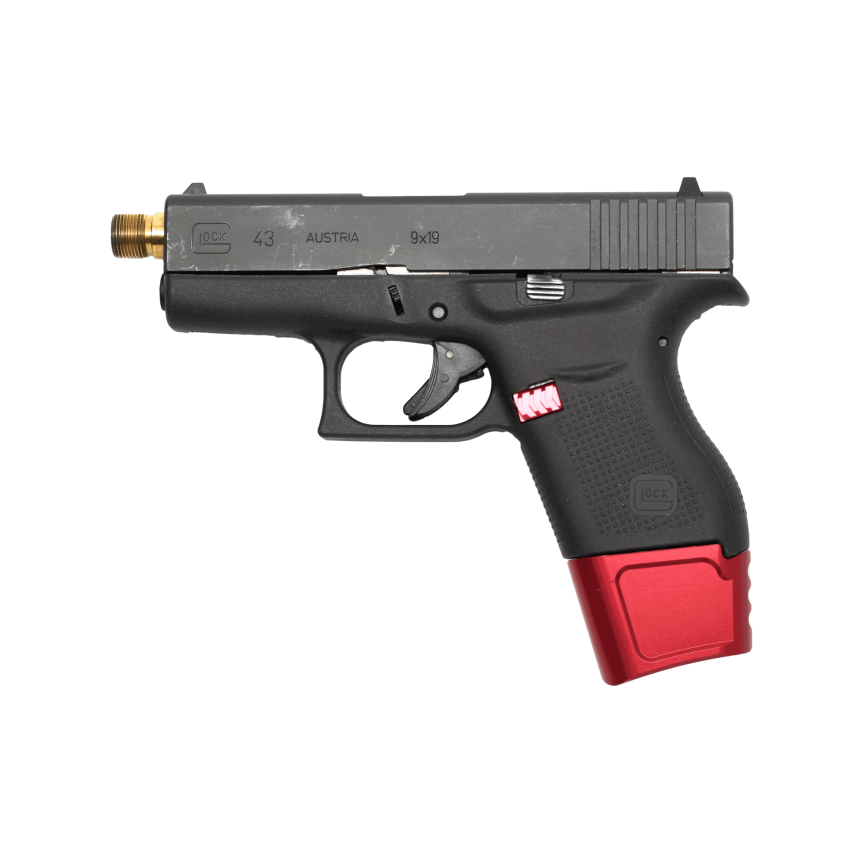 tyrant design glock 43 magazine extension plus 3 glock 43 magazine extension extendo 43 extendo 2
