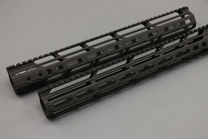 v seven weapon systems mlok handguard 10 inch ar15 rail lithium aluminum 2099 ar15 light weight rail ULIGHT 10ML 2
