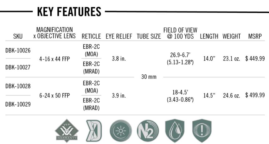 vortex optics diamondback tactical ffp rifle scope first focal plane rifle scope dbk-10026 dbk-10027 dbk 10028 dbk 10029 2