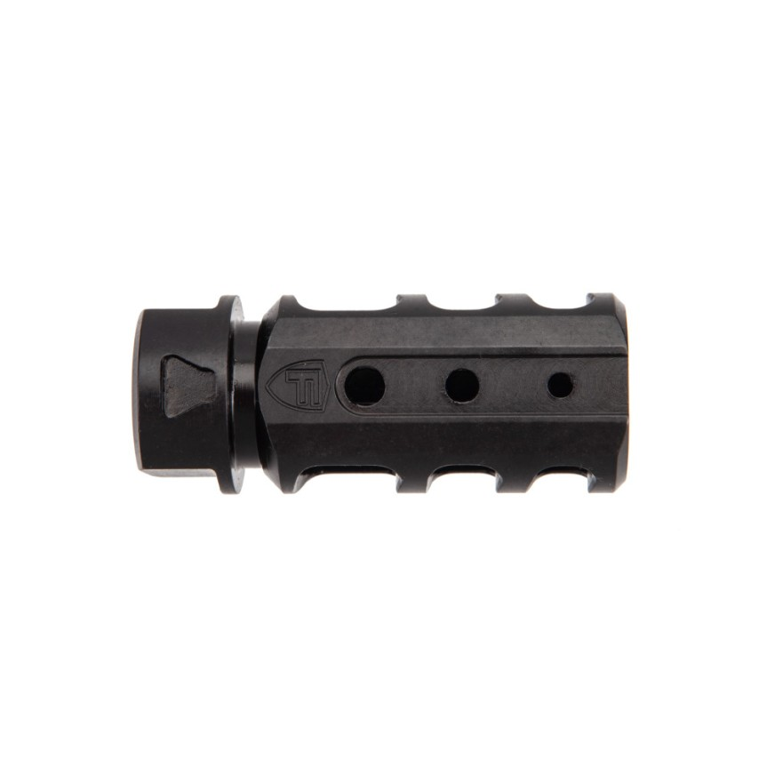 fortis manufacturing 9mm muzzle brake with sleeve sheild muzzle device red muzzle device rapid engagement device 556 223 9mm muzzlbrake no recoil. attackcopter 5