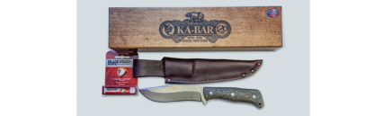 ka-bar knives JAROSZ DELUXE HUNTER FIXED BLADE KNIFE 7510 S35VN blade steel bushcraft hunter 7